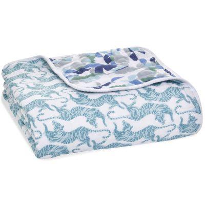 Couverture de rêve Dream blanket en coton Dancing Tigers (120 x 120 cm) aden + anais