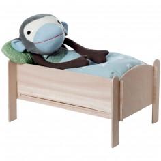 Lit de poupée en bois (23 x 32 cm)