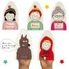 Lot de 5 marionnettes Chaperon Rouge (personnalisables) - Les Griottes