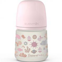 Biberon avec tétine symétrique SX PRO S Memories rose (150 ml)