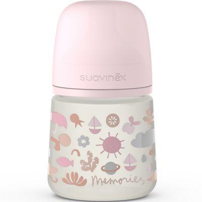 Biberon avec tétine symétrique SX PRO S Memories rose (150 ml)  par Suavinex