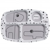 Assiette plateau Dots gris - Done by Deer