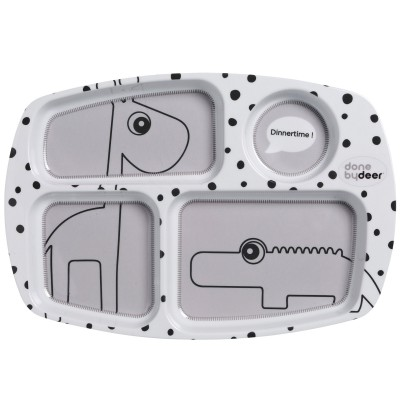 Assiette plateau Dots gris  par Done by Deer