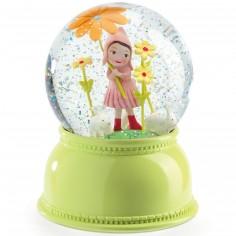 Boule à neige lumineuse Petite fille Jade