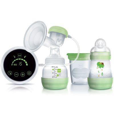 Tire-lait 2 en 1 électrique et manuel vert  par MAM