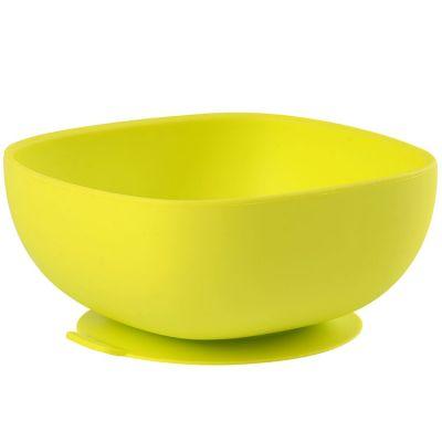 Bol en silicone à ventouse vert  par Béaba