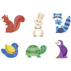Lot de 6 petits puzzles duo Articulo Animaux (2 pièces)