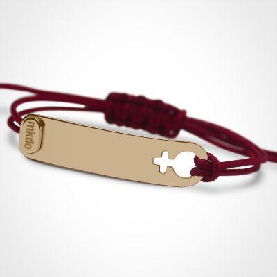 Bracelet I am Fille (or jaune 750°)  par Mikado