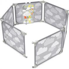Parc bébé modulable Nuage gris