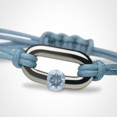 Bracelet ''Newborn'' Pierre précieuse ou fine (or blanc 750°)