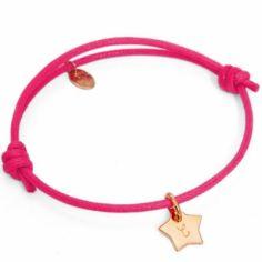 Bracelet Initiales avec étoile personnalisable (plaqué or)