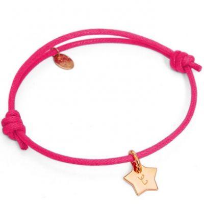 Bracelet Initiales avec étoile personnalisable (plaqué or)  par Merci Maman