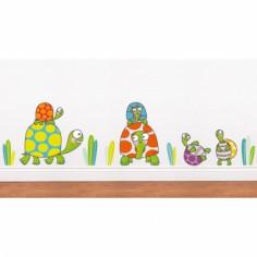 Sticker famille tortues