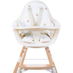 Coussin de chaise haute Evolu Jersey coeurs dorés