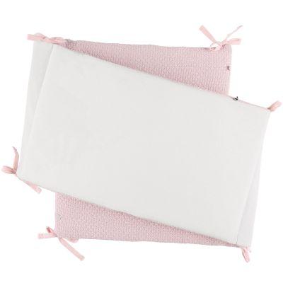 Tour de lit rose cocon silver Tricoloudoux (pour lits 60 x 120 cm et 70 x 140 cm)  par Noukie's