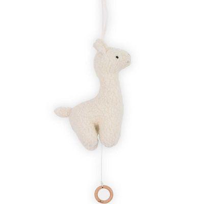 Peluche musicale Lama blanc (25 cm)  par Jollein