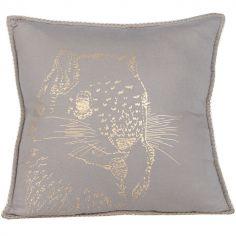 Coussin carré gris écureuil Fred (40 x 40 cm)
