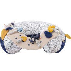 Cale-bébé d'activités en veloudoux Aston & Jack chien bleu