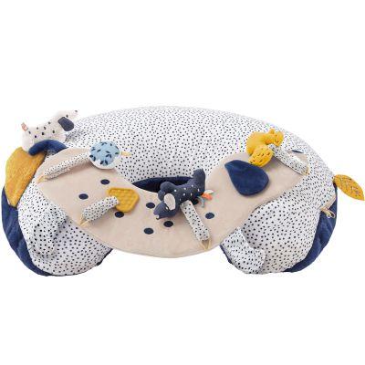 Cale-bébé d'activités en veloudoux Aston & Jack chien bleu  par Noukie's