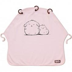 Protection pour poussette Baby Peace coton bio Cuddles rose