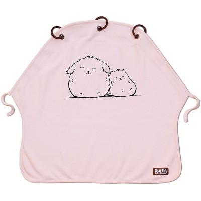 Protection pour poussette Baby Peace coton bio Cuddles rose  par Kurtis