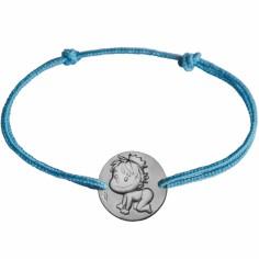 Bracelet cordon enfant Blagueur (argent 925°)