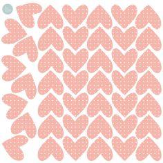 Sticker Coeurs rose (modèle intermédiaire)