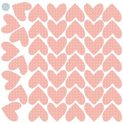 Sticker Coeurs rose (modèle intermédiaire)  par Love Maé