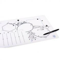 Sous-main effaçable en silicone + stylo
