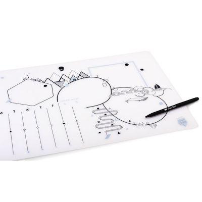 Sous-main effaçable en silicone + stylo Super Petit
