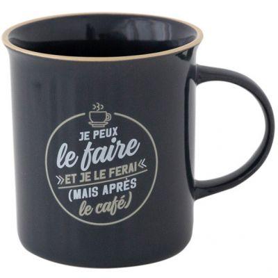 Mug Je peux le faire et je le ferai (mais après le café) Mr. Wonderful