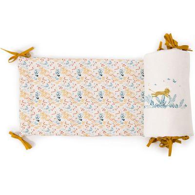 Tour de lit fleuri Sous mon baobab (pour lits 60 x 120 cm ou 70 x 140 cm)  par Moulin Roty
