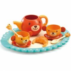Dinette en bois et plastique Le goûter de Teddy