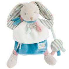 Doudou marionnette Happy lapin (28 cm)