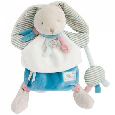 Doudou marionnette Happy lapin (28 cm) Doudou et Compagnie