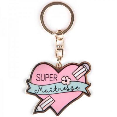 Porte-clés Super maitresse  par Créa Bisontine