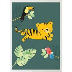 Affiche Tigre dans la jungle (50 x 70 cm)