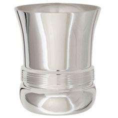 Timbale Filets personnalisable (métal argenté) dans son coffret