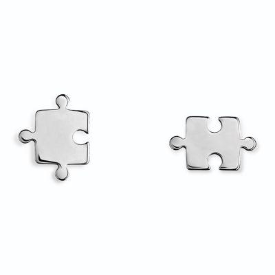 Boucles d'oreilles puzzle (argent 925°)  par Coquine