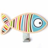 Patère poisson rayé - Série-Golo