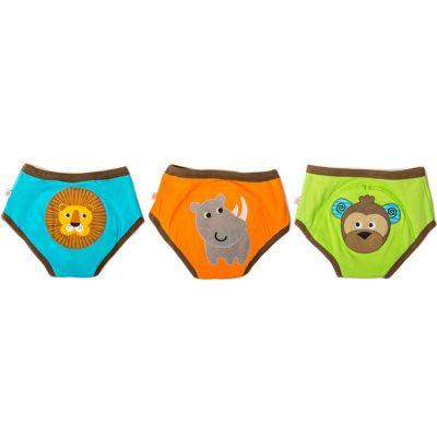 Lot de 3 culottes d'apprentissage TE1 coton bio garçon animaux (2-3 ans)  par Zoocchini