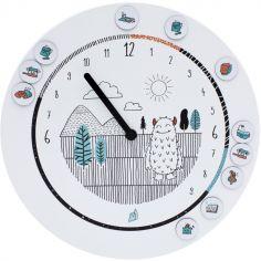 Horloge Formidable éducative Monstre et ses 20 aimants