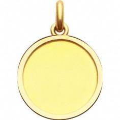 Médaille laïque cachet (or jaune 750°)
