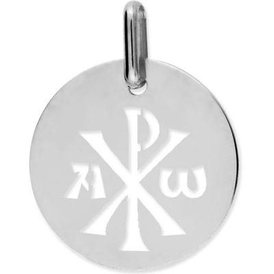 Médaille Chrisme ajouré (or blanc 750°)  par Lucas Lucor