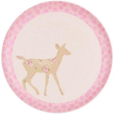 Petite assiette en bambou biche Doe (20,5 cm) Love Maé