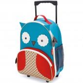 Valise trolley Zoo hibou bleu - Skip Hop