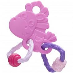 Anneau de dentition Clip Clop rose