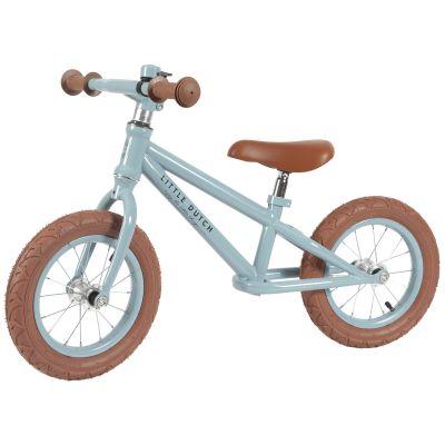 Draisienne blue Adventure blue roues marrons  par Little Dutch