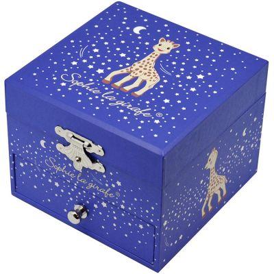 Coffret à bijoux musical cube Sophie La Girafe Milky Way  par Trousselier