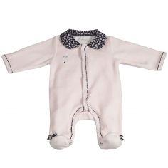 Pyjama chaud Miss Fleur de Lune rose (1 mois)